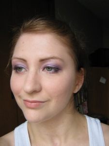 Soft Blue/purple, full face