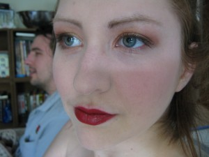 soft gold/pink smokey eye with Dubonnet