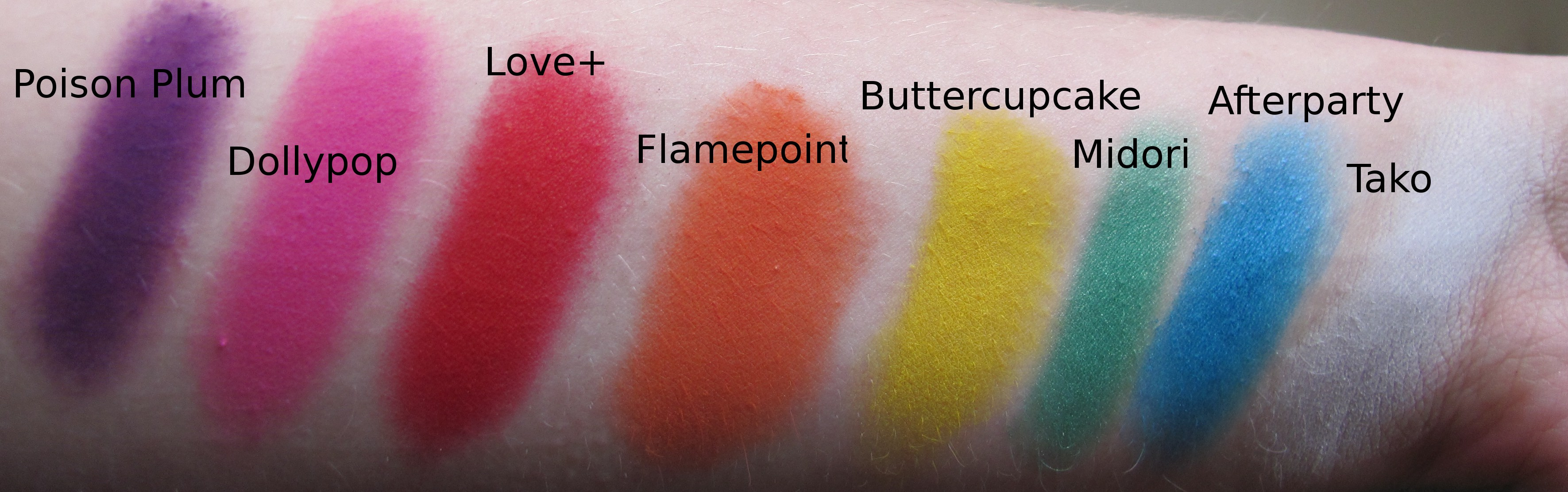 How to how to apply makeup for blue eyes : Review: Sugarpill Pressed Eyeshadow swatchathon! : The ...