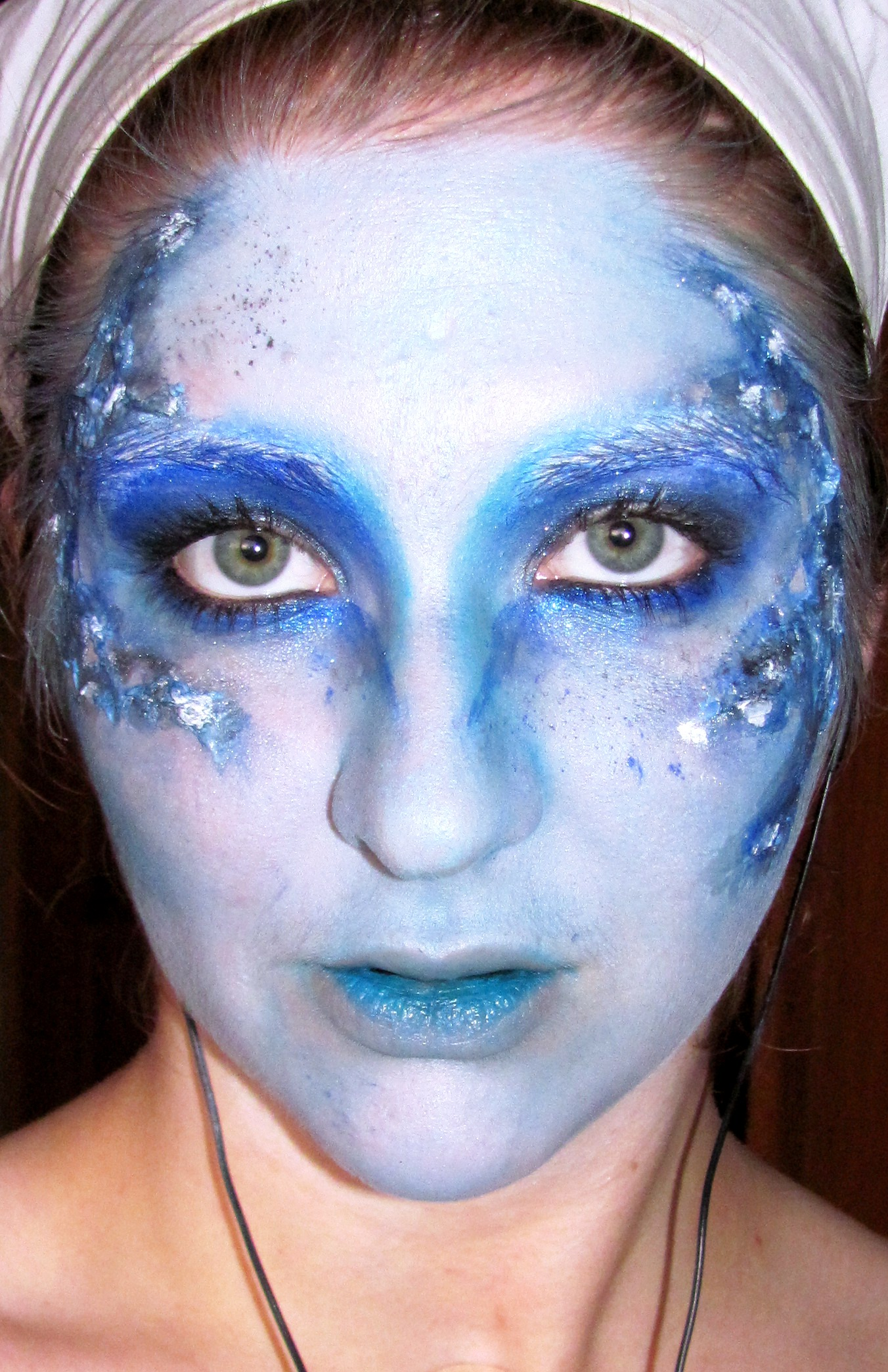 301 Moved Permanently - Blue Halloween Makeup